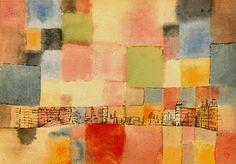 Neuer Stadtteil in M (1928) Aquarelle (34 x 46) Paul Klee