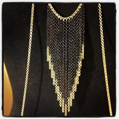 contrast chain-fringe body chain - 18k gold filled. $115.00, via Etsy.
