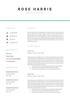 3 pg resume template cover letter template by blackdotresumes - Example Cover Letters For Resumes