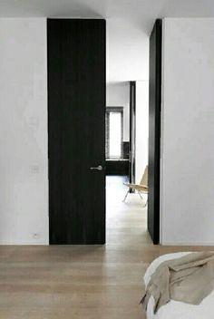 full height black doors | #saltstudionyc
