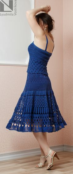#времявязаноймоды #юбка #юбкакрючком #вязанаяюбка #crochet #людмилавострикова #летняяюбка