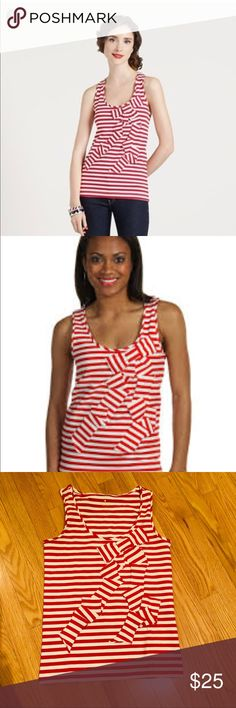 Stripped bow tank Like new in excellent condition kate spade Tops Tank Tops