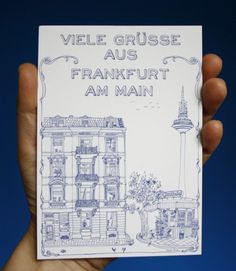 Frankfurt Postcard / Illustration: Amelie Persson