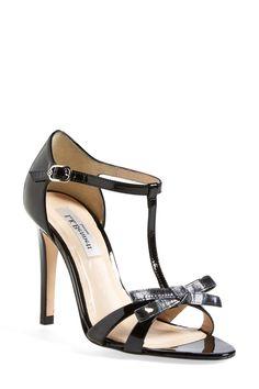 L.K. Bennett 'Anya' T-Strap Leather Sandal