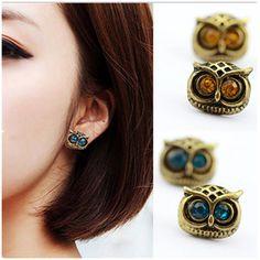Fashion 2016 Roxi Brincos Earing Boucle Bijoux Vinatge Owl Earrings Studs For Women Wedding Earings Girl Jewelry One Direction