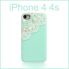i like this idea. might be able to pull it off myself for my lil 3gs ;)  Bling Pearl Girly Cute Lace Deco Sweet Back Cover Case For iPhone 4 4G 4s | eBay
