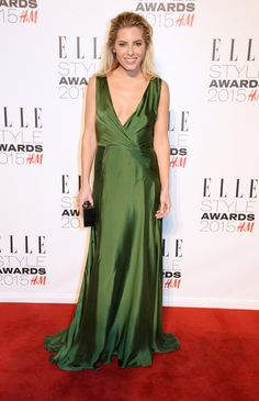 Pin for Later: What Would the Elle Style Awards Be Without Some Killer Outfits? Mollie King Like Taylor, Mollie opted for a plunging green gown.
