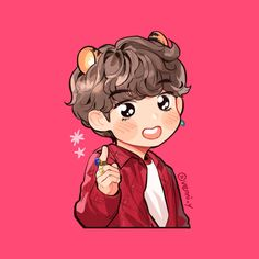 Cute Drawlings, Taehyung Fanart, Simple Wallpapers, Bts Drawings, Bts Chibi, Bts Photo, Bts Wallpaper, Disney Characters, Fictional Characters