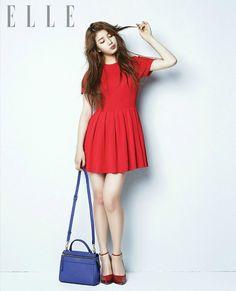 Suzy ★ miss a for elle magazine september 2013 bae suzy одеж Korean Fashion Kpop, Korean Street Fashion, Korea Fashion, Asian Fashion, Miss A Suzy, Little Red Dress, Bae Suzy, Elle Magazine, Junior