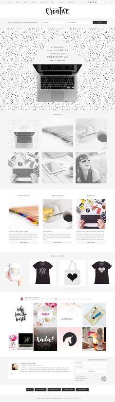 Pretty Creative Pro Theme by Pretty Darn Cute Design Wordpress Theme Design, Landing Page Design, Cute Designs, Feminine, Creative, Pretty, Beautiful, Blogging, Website