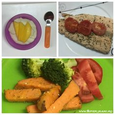 Ce mănâncă un bebeluş de zece luni - meniu pentru o săptămână - Super-Mami.Ro Quinoa, Broccoli, Sushi, Carrots, Sausage, Meat, Vegetables, Food, Sausages