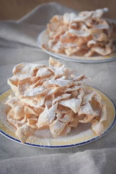 Chrusty, faworki, angel wings , for those who can have wheat flour , this sounded good ! Ukrainian Recipes, Russian Recipes, Ukrainian Food, Russian Foods, Croatian Recipes, Chrusciki Recipe, Polish Cookies, Cookie Recipes, Dessert Recipes