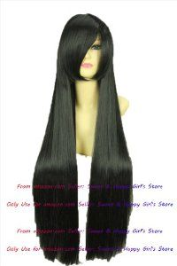 NEW Fashion HOT sexy Long Jet Black Straight Anime cosplay wigs party Masquerade girls wigs 80cm by Sweet & Happy Girl's Anime Wigs. $31.50. Fashion Wigs, Janpanese Synthetic Fiber. NOT Human Hair.. RETURNS ACCEPTABLE IN 14 DAYS (ORIGINAL SELLING STATUS,NO WEAR PLEASE). Full Wigs, Change Your Looks In Seconds.Great Idea for Party Cosplay Masquerade etc.. NEW store open, Big Discount, From factory, Arrive in 2-3 weeks. Worth the wait... Click my brand find more size & Newes...