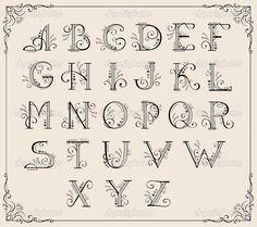 Calligraphic alphabet — Stock Vector #5743583