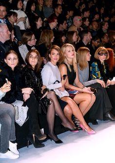 Front row: Nina Ricci fashion show held during Paris Fashion Week Womenswear Fall 2014 Paris, France.
