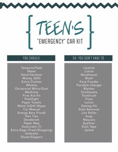 Teen Driver Car Kit #Travel #Musely #Tip Car For Teens, Diy Beauty Makeup, Beauty Hacks, Car Cleaning Hacks, Car Hacks, Toddler Crafts, Teen Driver, Girly Car, Car Care Tips