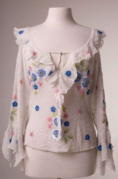Romantic White Beaded Top: Western Wear | Women Western Clothing | Western Apparel Clothing