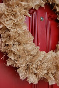 Super cute (and easy) rustic fall wreath!