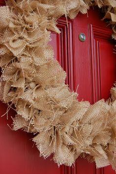 Super cute (and easy) rustic fall wreath!
