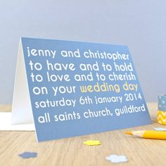 personalised 'wedding day' card by studio 9 ltd | notonthehighstreet.com