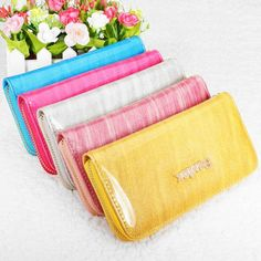 Women Patent Leather Wallet Zipper Long Wallet