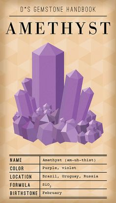 amethyst - very mod gem handbook design...