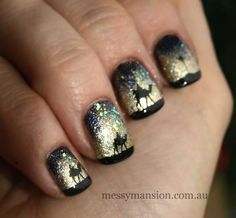 Three wise men nails - a unique look for the holidays
