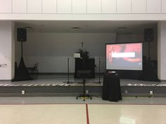 Karaoke System, 3 microphones, singer stage monitor, audience projection system and sound system. Karaoke System, Projection Screen, Stage Lighting, Screen Size, Monitor, Singer, Singers