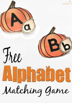 This free pumpkin alphabet matching game is a fun way to practice uppercase and lowercase letters with your preschool and kindergarten kids this fall! Autumn Activities For Kids, Fall Preschool, Preschool Literacy, Alphabet Activities, Early Literacy, Literacy Activities, Preschool Alphabet, Teaching Resources, Teaching Abcs