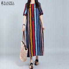 Ladies Striped  Maxi  Dress