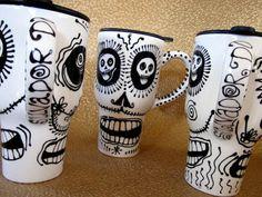 Salvador Dali' Skull Travel Mug for Everyday and Day by PattyMara, $33.00