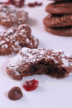 Chewy, fudgy, deep rich chocolate-y Black Forest Cookies!