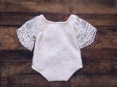 6-9 mo, My Darling Emma, Image of Ivory Lace Romper