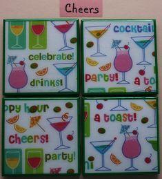 Coasters Ceramic tile coasters Drink coasters bar coasters