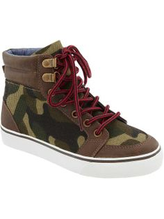 Boys Patterned High-Tops   Old Navy