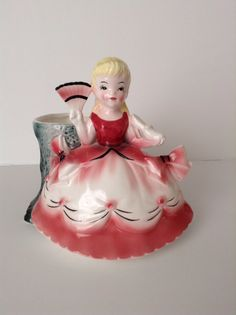 RARE Cinderella Planter Figurine by Napco by SnickKnacks on Etsy https://www.etsy.com/listing/214309956/rare-cinderella-planter-figurine-by