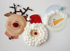 Paper Plate Christmas Characters: A classic craft that even toddlers can enjoy to help make.