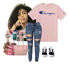 """Untitled #5"" by shesprincessss on Polyvore featuring Champion and MCM"