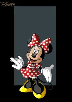 Minnie Mouse..polka dots... bows shes ahead of her time...