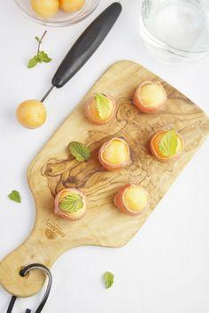 Prosciutto Wrapped Melon Balls | www.bellalimento.com