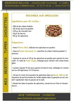 Tupperware - bouchées au spéculoos Tupperware Pressure Cooker, Tupperware Recipes, Biscuits, No Bake Cookies, Recipe Using, Brunch, Food And Drink, Sweets, Snacks