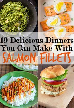 19 Delicious Dinners You Can Make With Salmon Fillets. For my personal college-cooking reference :) Pescatarian Diet, Pescatarian Recipes, Vegetarian Recipes, Cooking Recipes, Healthy Recipes, Easy Salmon Recipes, Fish Recipes, Seafood Recipes, Recipies