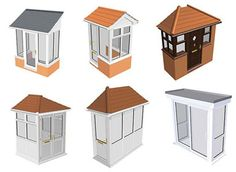 The different styles of porch in the Anglian range
