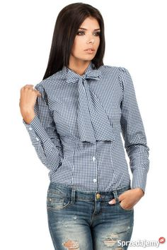 Another great find on Navy Blue Buffalo Check Bow Button-Up Top by MOE Blue Gingham, Navy Blue, Work Fashion, Retro Fashion, Professional Dresses, Button Up, Ruffle Blouse, Dresses For Work, Style Inspiration