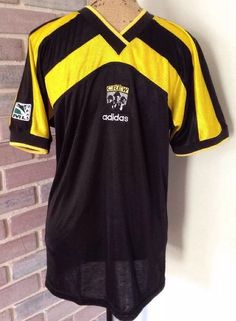 Vintage Adidas Columbus Crew Soccer Jersey Short Sleeve Shirt Small MLS Made USA | eBay