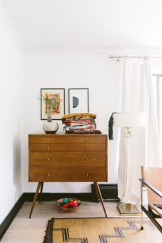 eclectic bedroom corner