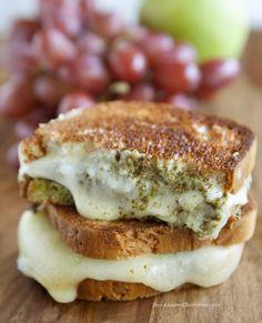 Gluten Free Pesto Grilled Cheese Sandwich