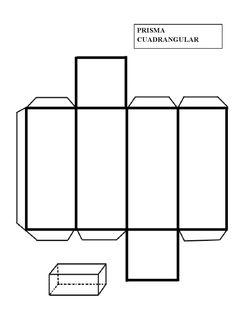 Patrón imprimible para construir un prisma cuadrangular. En geometría, un prisma es un poliedro con una base poligonal de n lados... 3d Shapes Activities, Math Activities, Shapes For Kids, Math For Kids, Patron Cube, Cube Template, 3d Geometric Shapes, Teaching Geometry, Printable Shapes