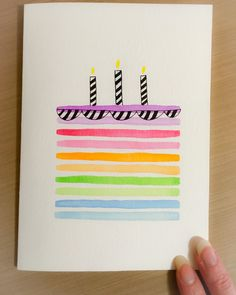 Birthday card diy for aunt Best ideas Birthday Card For Aunt, Birthday Card Puns, Birthday Card Drawing, Birthday Painting, Homemade Birthday Cards, Birthday Card Design, Kids Birthday Cards, Homemade Cards, Diy Birthday