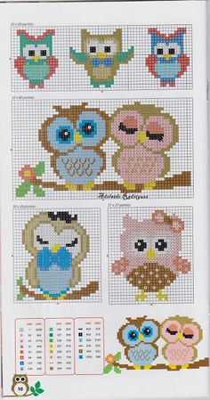 cute little owls 1/2